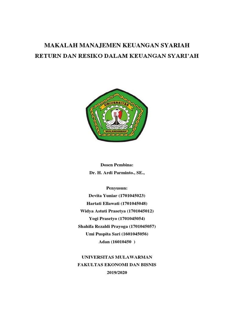 Makalah Manajemen Keuangan Syariah