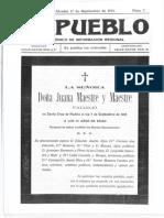 1913 09 17 EL PUEBLO Alcañiz Teruel #007
