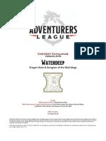 Adventurers League Content Catalogue v809