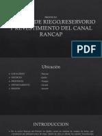 Sistema de Riego,Reservorio y Revestimiento