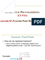 Lect07 Floating Point