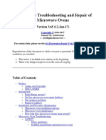Microwave Oven Notes