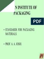 Pkg Materials Standards IIP a a Joshi