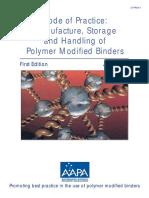 Handling of Polymer Modified Bitumen