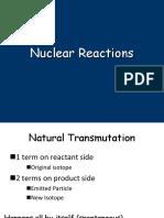 Nuclear Reactions Balancing