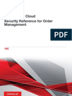 Security Reference for Order Management