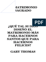 Matrimonio Sagrado - Gary Thomas