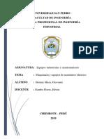 Maquinarias y Equipos de Suministros Eléctricos