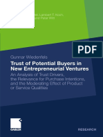 Trust of Potential Buyers in New Entrepreneurial Ventures