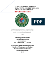 THE DYNAMICS OF PAKISTAN-CHINA RELATION , CHALLANGES AND OPPORTUINTES , PHD THESIS OF Zulfiqar Hussain_IR_2019_NDU_PRR.pdf