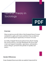 Feminist Theory in Sociology
