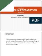 HERBARIUM PREPARATION