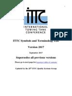 ITTC Symbols and Terminology List