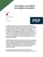 A Violência de Gênero No Âmbito Do Transporte Público Brasileiro