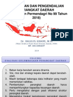 EVALUASI KELEMBAGAAN PERMENDAGRI 99 THN 2018.ppt