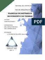PLANTILLA DE METRADOS DE EDIFICACION