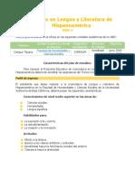 Lengua y literatura mapa curricular UABC