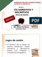 Textos narrativos y descriptivos