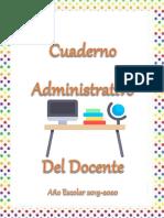 Cuaderno Administrativo Del Docente 2019-2020