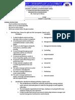 1st Sem Endterm Exam Organizational and Management