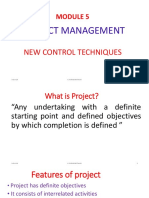 15ae51-m&e\Module 5- Project Management, New Control Techniques