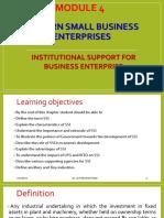 15ae51-m&e\Module 4- Modern Small Business Enterprise, Institutional Support for Business Enterprise