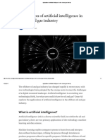 Application of Artificial Intelligence in the Oil and Gas Industry