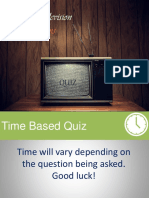 Analog Television Systems QUIZ