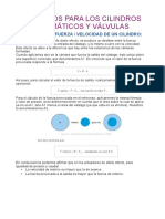 Calculo de Cilindros y Valvula Neumaticas