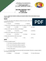 Second Periodic Test 6