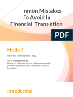 4 Common Mistakes To Avoid In Financial Translation