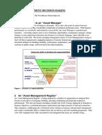 Asset Management Decision-Making