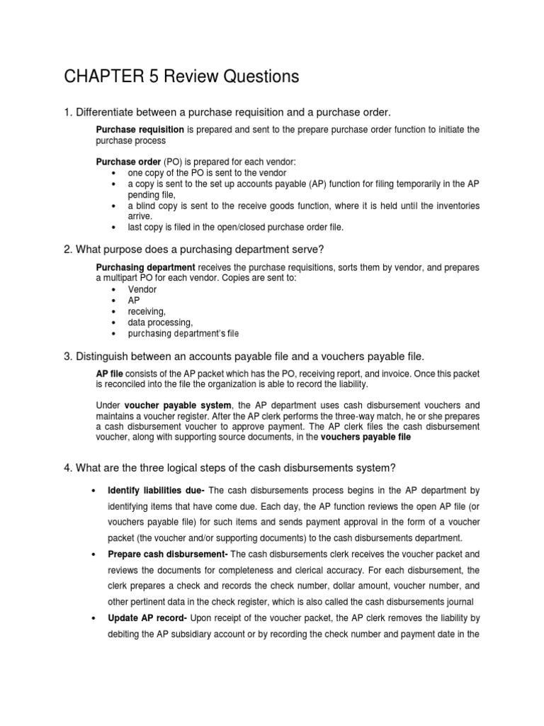 Chapter 5 Accounts Payable Services Economics