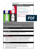 Chemicals - Product Instructions