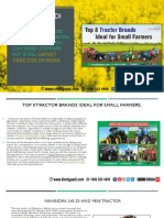 Top 8 Tractor Brands Ideal for Small Farmers.