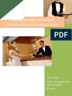 UFCD_8260_Comunicação, Vendas e Reclamações Na Restauração