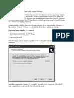 Instalasi OpenGL Dan C