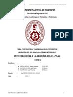 Informe hidraulica fluvial