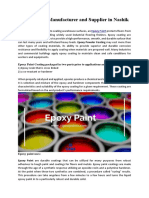 Epoxy Paint Manufacturer and Supplier in Nashik