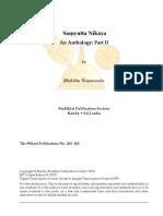 Samyutta Nikaya Anthology II