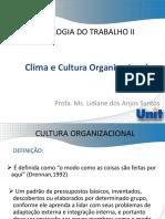 AULA VII- Cultura e Clima Organizacional