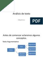 Análisis de Texto Argumentativo