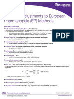 Allowable Changes to EP Methods
