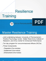 Master Resilience Training Presentation