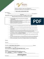 Travel Agent Accreditation Form v Hotel