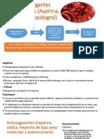 Antiagregantes Plaquetarios (Aspirina, Triflusal, Clopidogrel