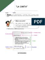 Ficha Lenguaje- Carta