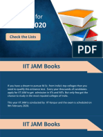 Best Books for IIT JAM 2020 Preparations