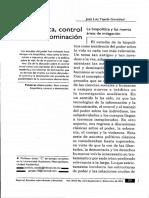 Biopolítica, Control y Dominación