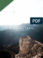 FONT Cinematic